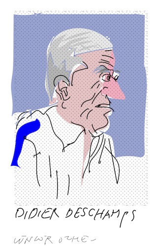 Cartoon: Didier Deschamps (medium) by gungor tagged france,world,cup,2018,russia,french,national,team,coach