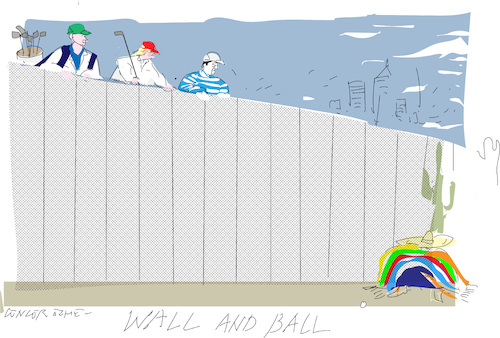 Cartoon: Famous wall (medium) by gungor tagged usa,usa
