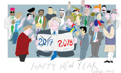 cartoon happy new year 2018 medium by gungor tagged world