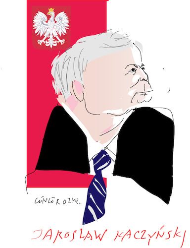 Cartoon: Jaroslaw Kaczynski (medium) by gungor tagged poland,poland,politician,lawyer,leader,of,the,law,and,justice,party,polish solidarity,polish,spring,saur,gurken,warsaw,solidarity