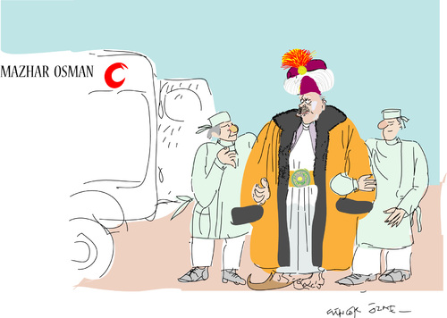 Cartoon: Last Ottoman (medium) by gungor tagged turkey
