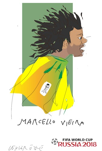 Cartoon: Marcello Vieira (medium) by gungor tagged world,cup
