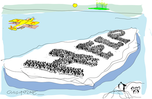 Cartoon: Penguin (medium) by gungor tagged climate,change