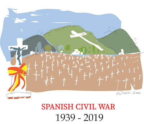 Cartoon: Spanish Civil War (medium) by gungor tagged spain,spain
