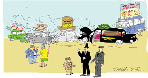 Cartoon: Total Chaos (medium) by gungor tagged cars