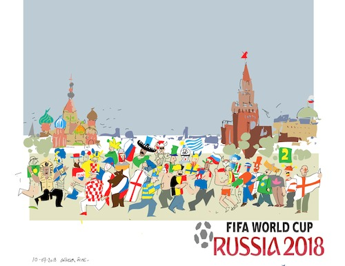 Cartoon: World Cup 2018 Russia 5 (medium) by gungor tagged russia