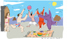 Cartoon: Bathers 2 (small) by gungor tagged france