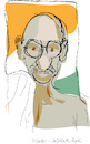 Cartoon: Mahatma Gandhi (small) by gungor tagged india