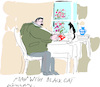 Cartoon: Man with Black Cat (small) by gungor tagged human