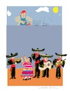 Cartoon: Mexican wall (small) by gungor tagged usa