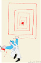 Cartoon: Painter and Red lines (small) by gungor tagged tradesman