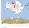Cartoon: Peace for Middle east (small) by gungor tagged pope,in,iraq