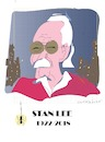 Cartoon: Stan Lee (small) by gungor tagged usa