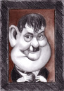 Cartoon: Oliver Hardy (small) by Tomek tagged laurel and hardy oliver comedy silent films