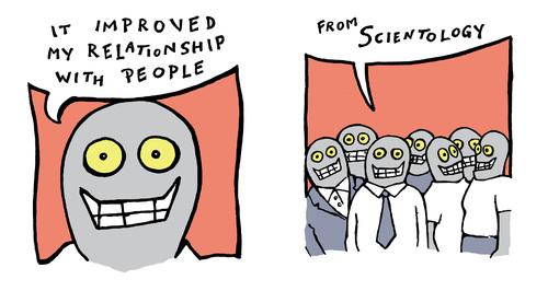 Cartoon: nullo problemo english (medium) by JP tagged scientology