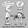 Cartoon: force deterrrence (small) by JP tagged force,deterrebce,buclear,star,wars,luke,skywalker,stormtrooper,lightsaber