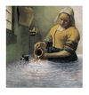 Cartoon: nach Vermeer  Die Küchenmagd (small) by Peter Bauer tagged vermeer,küche,peter,bauer,kanne