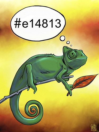 Cartoon: RGB (medium) by gereksiztarama tagged chameleon