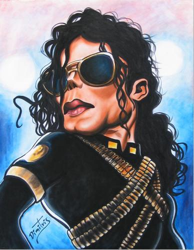 michael jackson caricature by dimitris emm famous people
