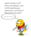 Cartoon: Corona Arrest (small) by Zoltan tagged corona,krank,quarantäne,fieber,husten,händewaschen,hausarrest