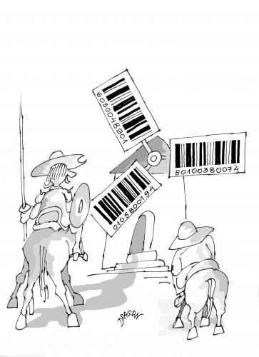 Cartoon: bar code 9 (medium) by Dragan tagged bar,code