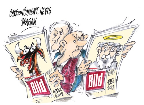 Cartoon: Bild-aniversario (medium) by Dragan tagged periodico,alemania,bild