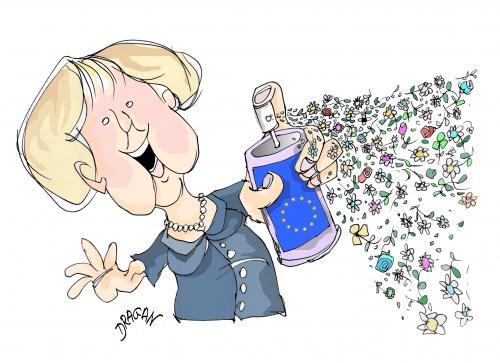 EU-Merkel By Dragan | Politics Cartoon | TOONPOOL