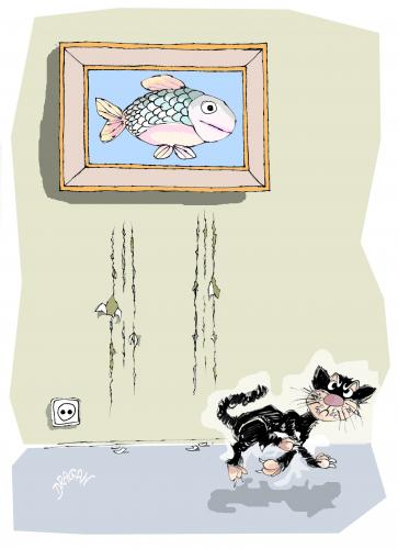 Cartoon: gato (medium) by Dragan tagged gato