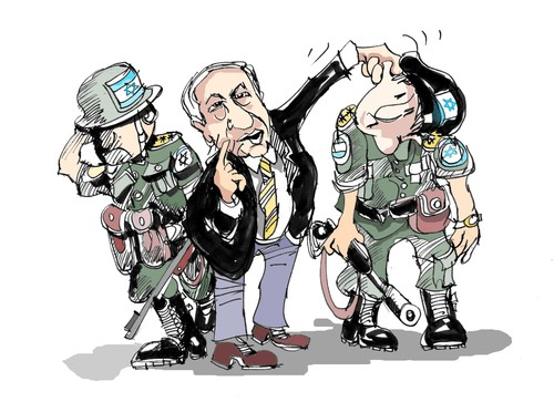Cartoon: Israel (medium) by Dragan tagged israel,gaza,diario,haaretz,informe,goldstone,armas,quimicas,politics,cartoon