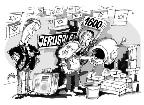 Cartoon: Joe Biden-Benjamin Netanyahu (medium) by Dragan tagged joe,biden,benjamin,netanyahu,israel,jerusalen,palestina,politics,cartoon
