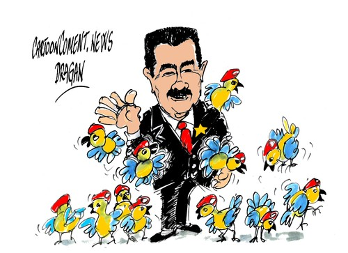 Image result for Coup in Venezuela CARTOON