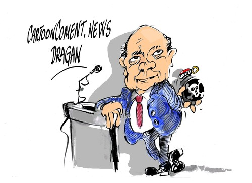 Cartoon: William Hague-armas quimicas (medium) by Dragan tagged william,hague,armas,quimicas,gran,bretana,siria,bahrein,politics,cartoon