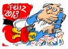 Cartoon: Feliz 2013 (small) by Dragan tagged feliz,2013