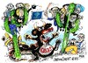 Cartoon: G-20 en Mexico (small) by Dragan tagged 20,mexico,crisis,economia,euro,politics,cartoon