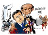 Cartoon: Poroshenko-Obama- selfie (small) by Dragan tagged petro,poroshenko,ukraina,eeuu,barack,obama,selfie,politics,carttoon