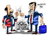 Cartoon: Rubalcaba-Rajoy-UE (small) by Dragan tagged alfredo,perez,rubalcaba,mariano,rajoy,postura,comun