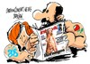 Cartoon: Rubalcaba-Tatu (small) by Dragan tagged alfredo,perez,rubalcaba,elena,valenciano,psoe,tatuaje,politics,cartoon