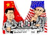 Cartoon: Xi Jinping-Barack Obama (small) by Dragan tagged xi,jinping,china,barack,obama,estados,unidos,politics,cartoon
