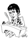 Cartoon: HEINRICH VON KLEIST (small) by johnxag tagged heinrich von kleist