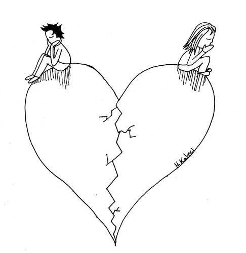 Broken Heart By Kaleci Love Cartoon Toonpool