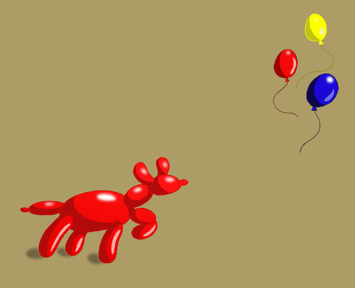 Cartoon: Balloon Dog... (medium) by berk-olgun tagged balloon,dog