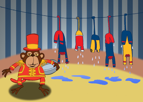 Cartoon: Circus Monkey... (medium) by berk-olgun tagged circus,monkey