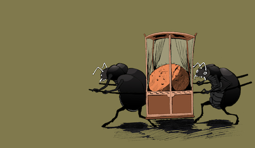 Cartoon: Dung Beetle... (medium) by berk-olgun tagged dung,beetle