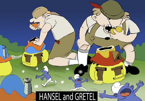 Cartoon: Hansel and Gretel... (medium) by berk-olgun tagged hansel,and,gretel