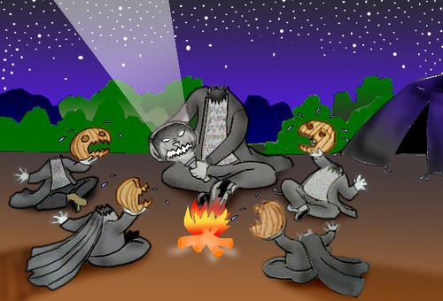 Cartoon: Headless Horseman s Family.. (medium) by berk-olgun tagged headless