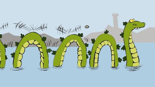 Loch Ness Monster By Berk Olgun Media Culture Cartoon Toonpool