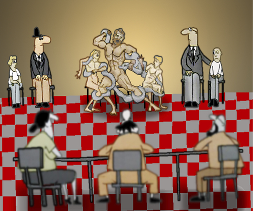 Cartoon: Parents Teacher Meeting.. (medium) by berk-olgun tagged laocoon