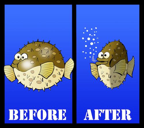 Puffer fish diet by berk olgun media culture for Puffer fish diet