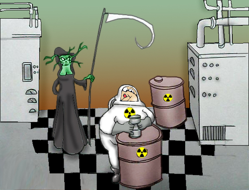 Cartoon: Radiation.. (medium) by berk-olgun tagged radiation