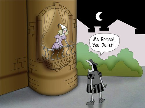 Cartoon: Romeo and Juliet.. (medium) by berk-olgun tagged romeo,and,juliet
